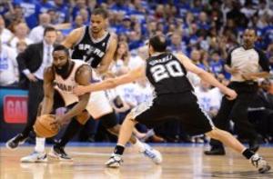 109-103. Durant e Ibaka imponen su poder y los Thunder empatan la eliminatoria