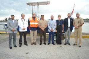 Portuaria Dominicana y el CESEP presentan embarcaciones para el patrullaje marítimo