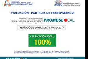 Promese/CAL obtiene durante tres meses consecutivos calificación 100%