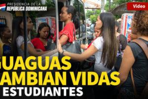 VÍDEO: Guaguas cambian vidas a estudiantes