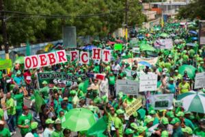 La Marcha Verde, un año después, mantiene presión contra la corrupción
