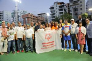 Primera Dama asiste a calentamiento atletas de Olimpiadas Especiales en inauguración Copa Davis